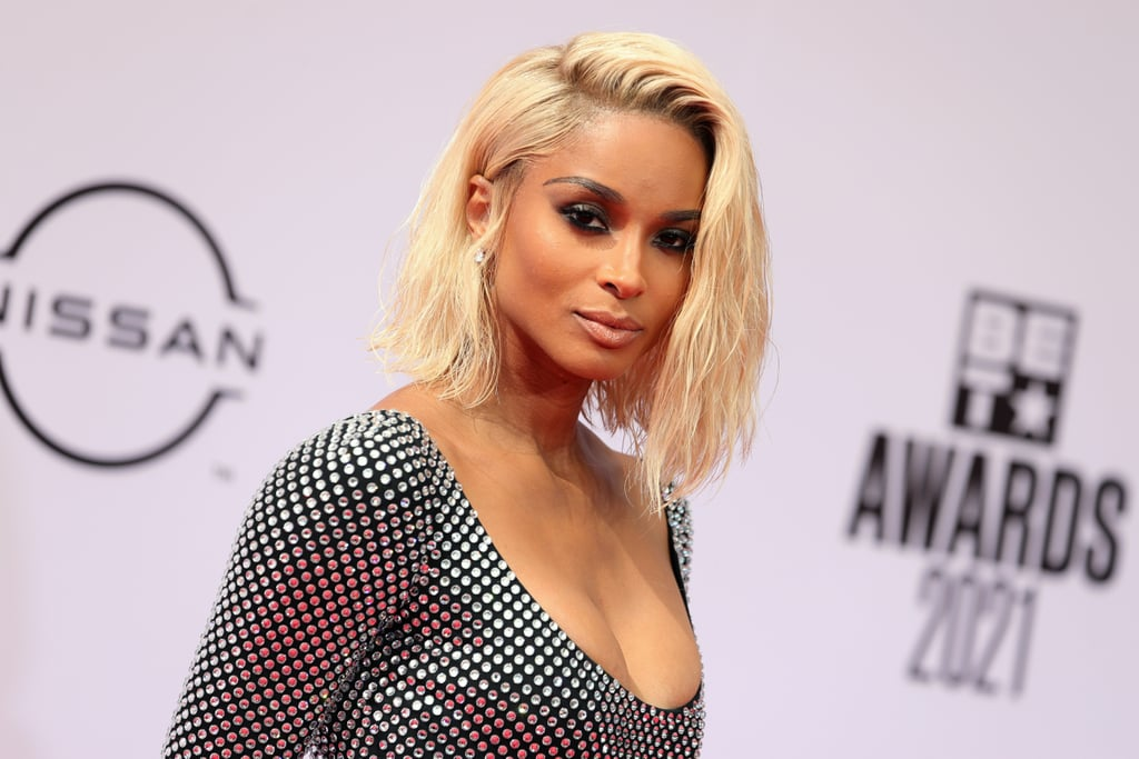 Ciara's Wet and Wavy Blond Lob and Smoky Eye Makeup
