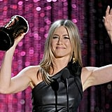 Jennifer Aniston waved to fans.