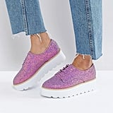 ASOS Chunky Glitter Flat Shoes