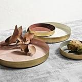 Sheridan Mia Antique Brass Platter