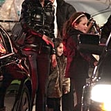 Pictures of Katie Holmes and Suri Cruise Visiting Tom Cruise on the Mission Impossible Ghost Protocol Set