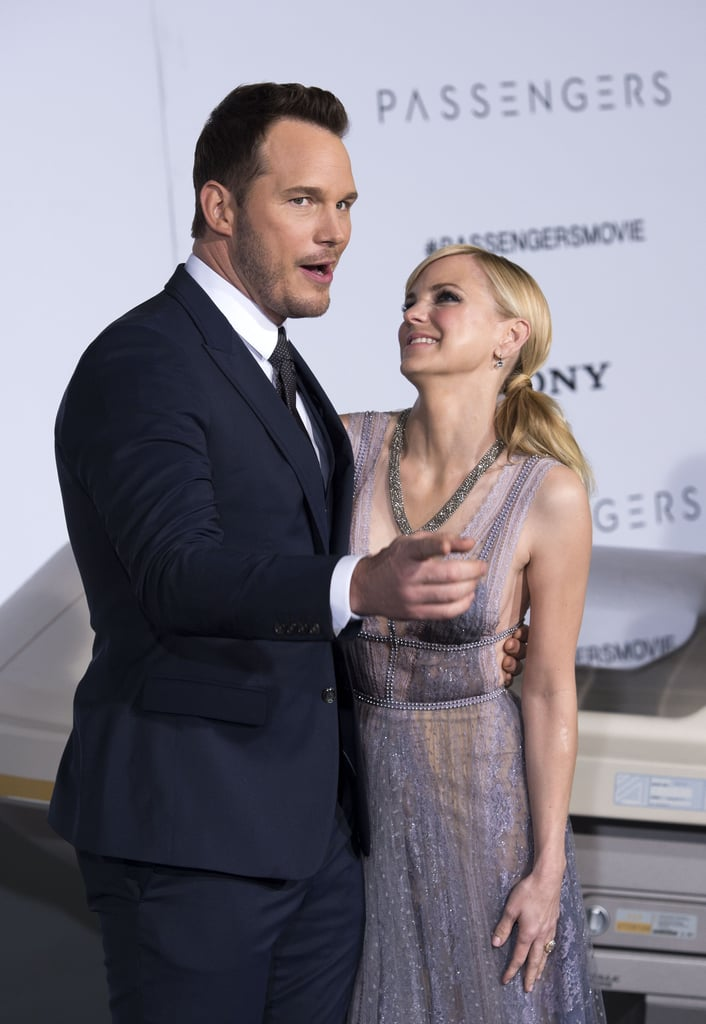 "Chris Pratt and Anna Faris were as cute as can be when they arrived together at the LA premiere of Passengers on Wednesday night. The couple, who tied the knot back in July 2009, exchanged loving glances and shared a few laughs on the red carpet as they posed for photographers. Also in attendance was Chris's costar, Jennifer Lawrence, who stunned in a gorgeous princess-like gown.   The pair's latest appearance comes a few weeks after Anna opened up again about dealing with reports claiming that Chris was having an affair with Jennifer during an interview with Isla Fisher on her podcast, Anna Faris Is Unqualified. The actress admitted, ""I just remember feeling so hurt in a way that bothered me, because I didn't want to think of myself as somebody who could be affected by tabloid sh*t."" She went on to confess that the cheating rumors made her feel ""incredibly insecure,"" adding, ""I take pride in how great my relationship is with Chris . . . but having said that, of course, in this crazy world where he's off doing movies and I'm in LA raising our child [4-year-old son Jack], of course I'm going to feel vulnerable, like any normal human would."""