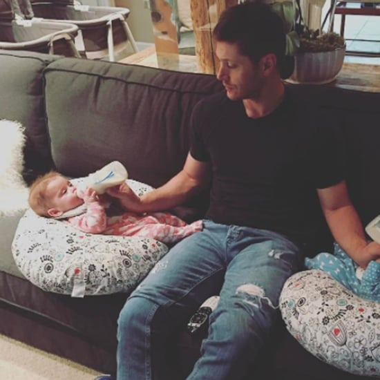 Jensen Ackles Instagram Photo With His Twins April 2017
