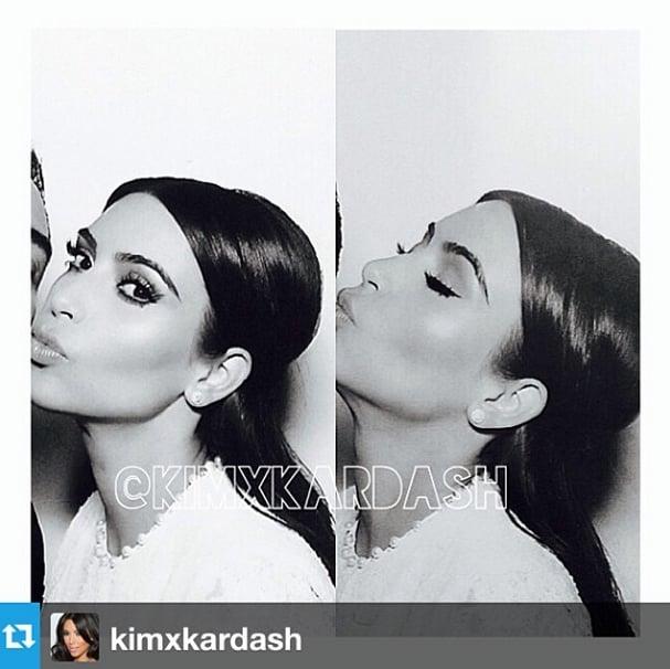 Kim Kardashian Had Dramatic Eyelashes at Her Wedding