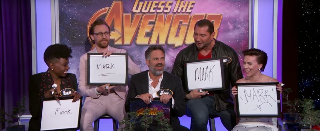 "Avengers Infinity War Cast Playing ""Guess the Avenger"" Video"