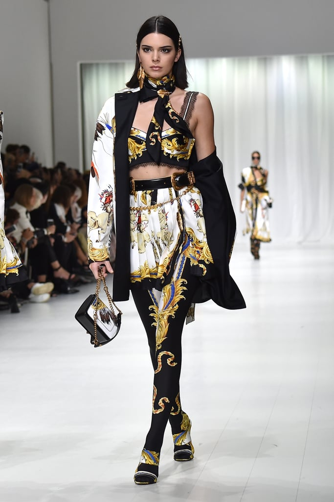 Kendall Walked the Versace Runway in a Bold Look