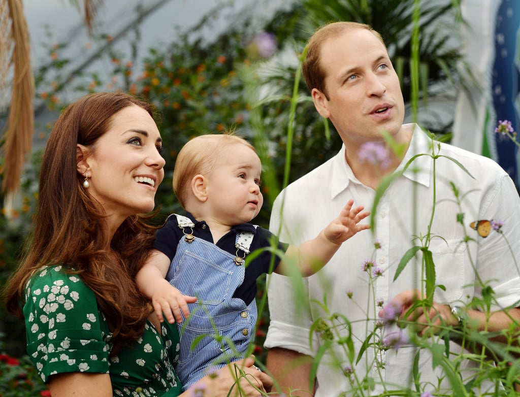George accompanied the couple to the Sensational Butterflies exhibition in London in July 2014.
