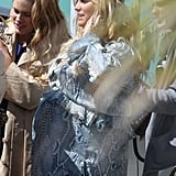 Jessica Simpson at her own baby shower.