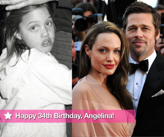Slideshow Of Photos Celebrating Angelina Jolie's 34th Birthday, Featuring Brad Pitt, Billy Bob Thornton, Jonny Lee Miller