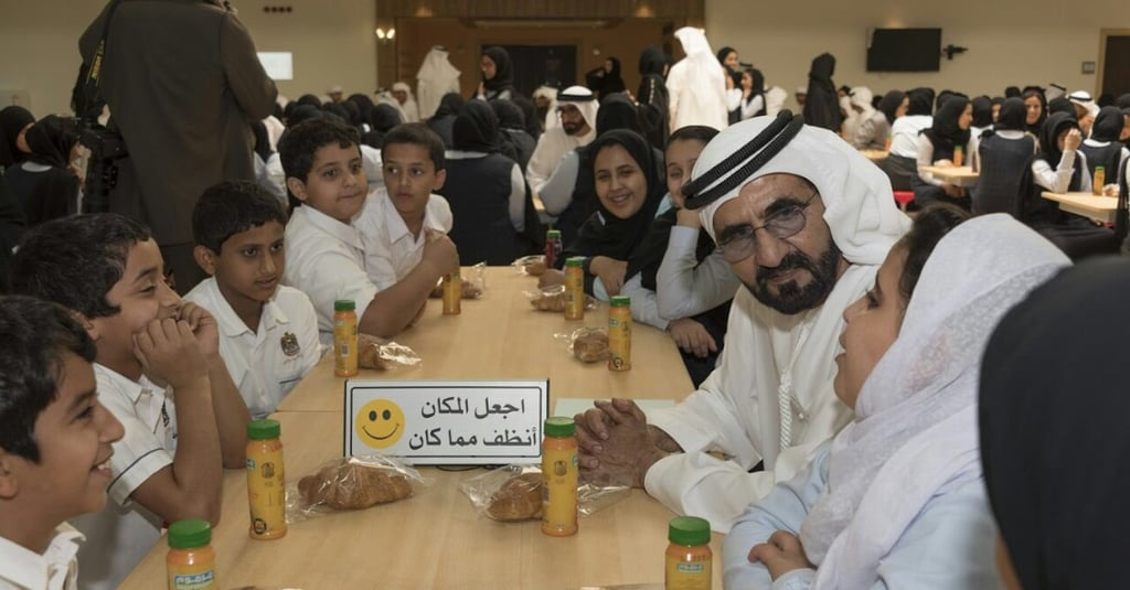 Dubai's Sheikh Mohammed Holds UAE Cabinet Meeting at School