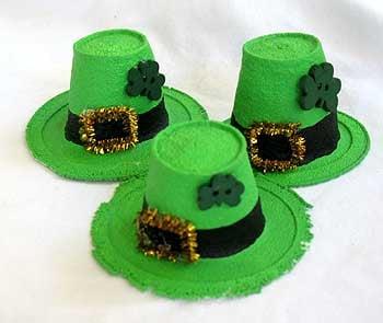 Styrofoam Leprechaun Hats