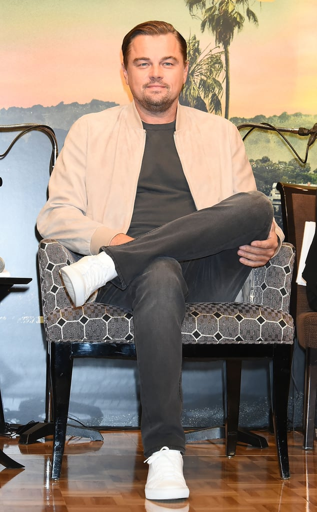 Leonardo DiCaprio at a press conference for Once Upon a Time in Hollywood in Tokyo.