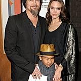 Angelina and Brad took Maddox to the LA premiere of Invictus in 2009.