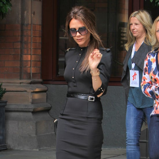 Victoria Beckham Black Military Outfit