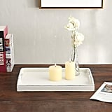 Vintage Rustic White Wood Nesting Serving Trays