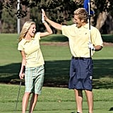 Heidi Montag and Spencer Pratt chose an LA golf course for their August 2007 sporty photo op.