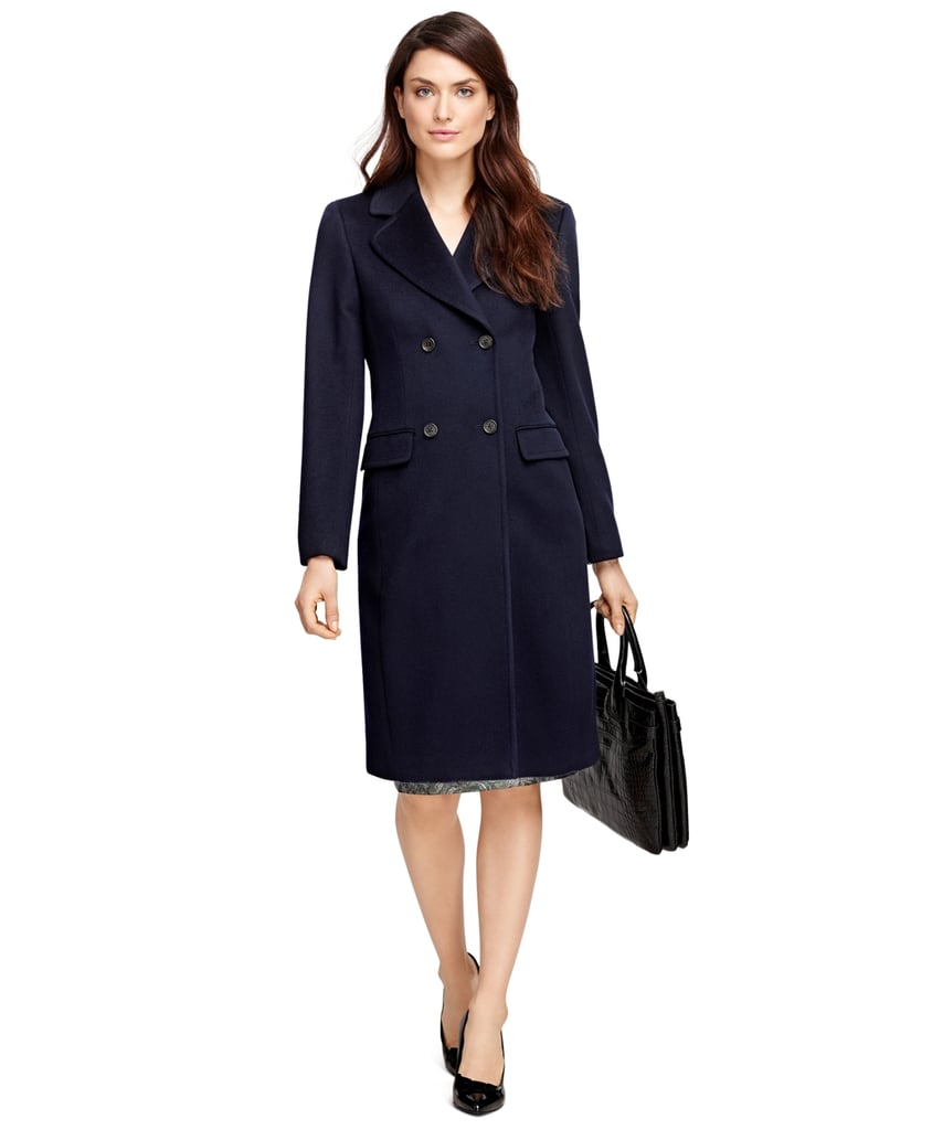 Brooks Brothers Double-Breasted Wool Coat