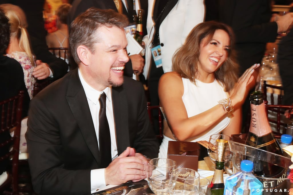 Matt and Luciana Damon reacted to the show with laughter.