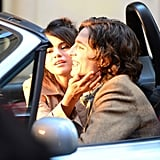 Selena Gomez Kissing Timothee Chalamet on Movie Set Pictures