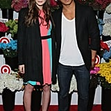 Elizabeth Olsen posed with designer Prabal Gurung at the launch of his collaboration with Target in NYC Wednesday.