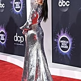Sofia Carson's Sequined Dress at American Music Awards 2019