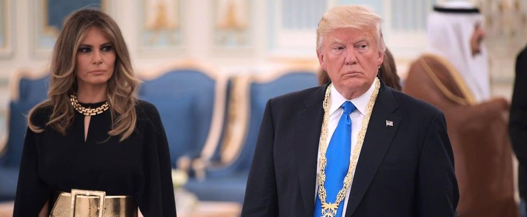 قرار ميلانيا ترامب بعدم ارتداء غطاء الرأس في المملكة العربيّة السعودية يلفت أنظار الجميع