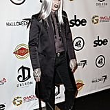 Adam Lambert dressed up for the Halloweenie Celebrity Charity Event in LA on Friday.