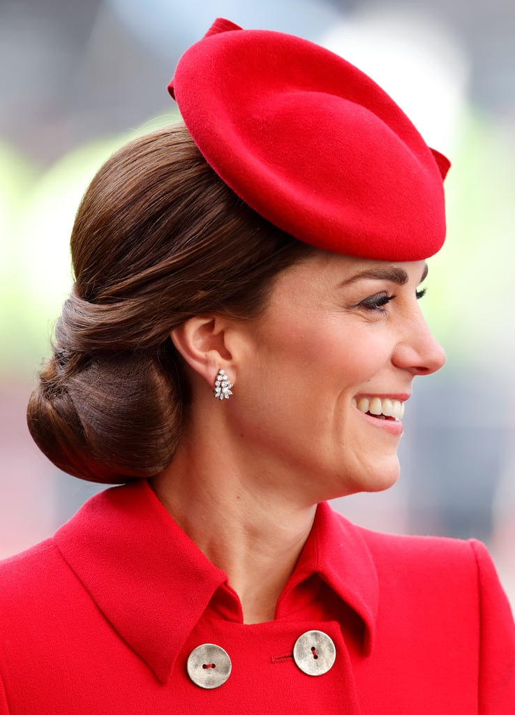 Kate Middleton's Tucked-and-Folded Updo, 2019