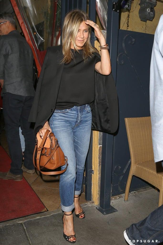 Jennifer Aniston's Black Tuxedo Blazer