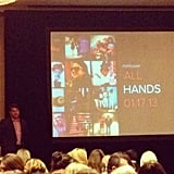 Our CEO Brian Sugar led a company-wide meeting to discuss all the awesome things 2013 has in store for us — and you!