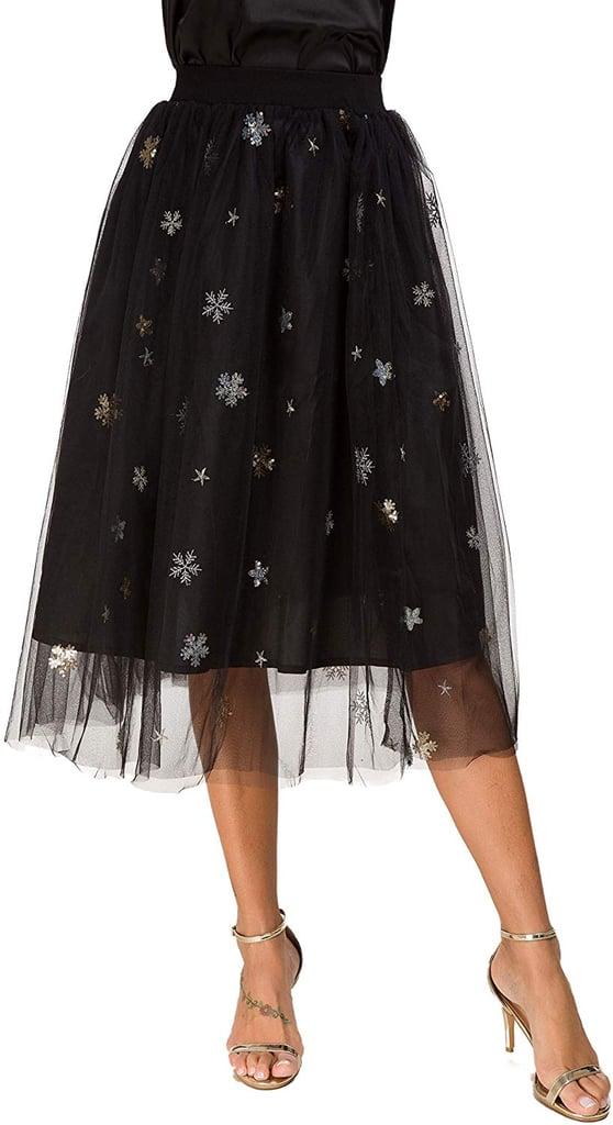 Alcea Sparkly Snowflake Tulle Skirt