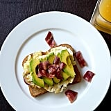 Turkey bacon, an egg, and a little avocado are a combo we're definitely going to whip up soon. Source: Instagram user fooduncovered