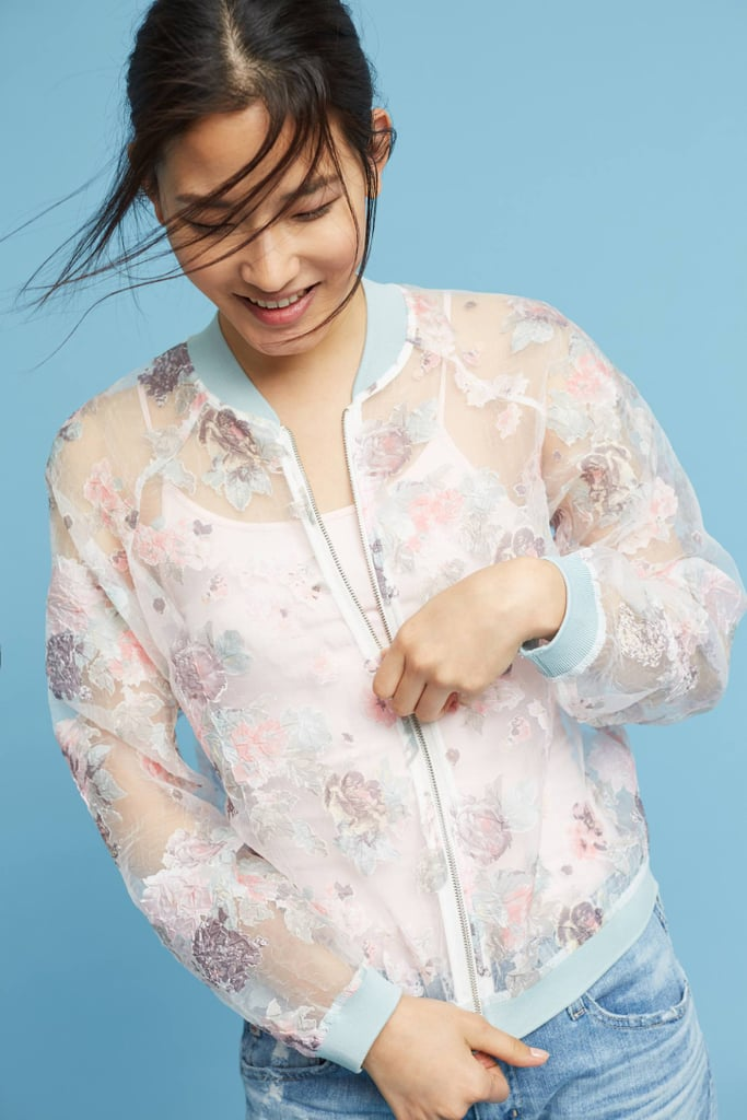 Maeve Textured Floral Bomber