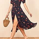 Reformation Napa Wrap Midi Dress