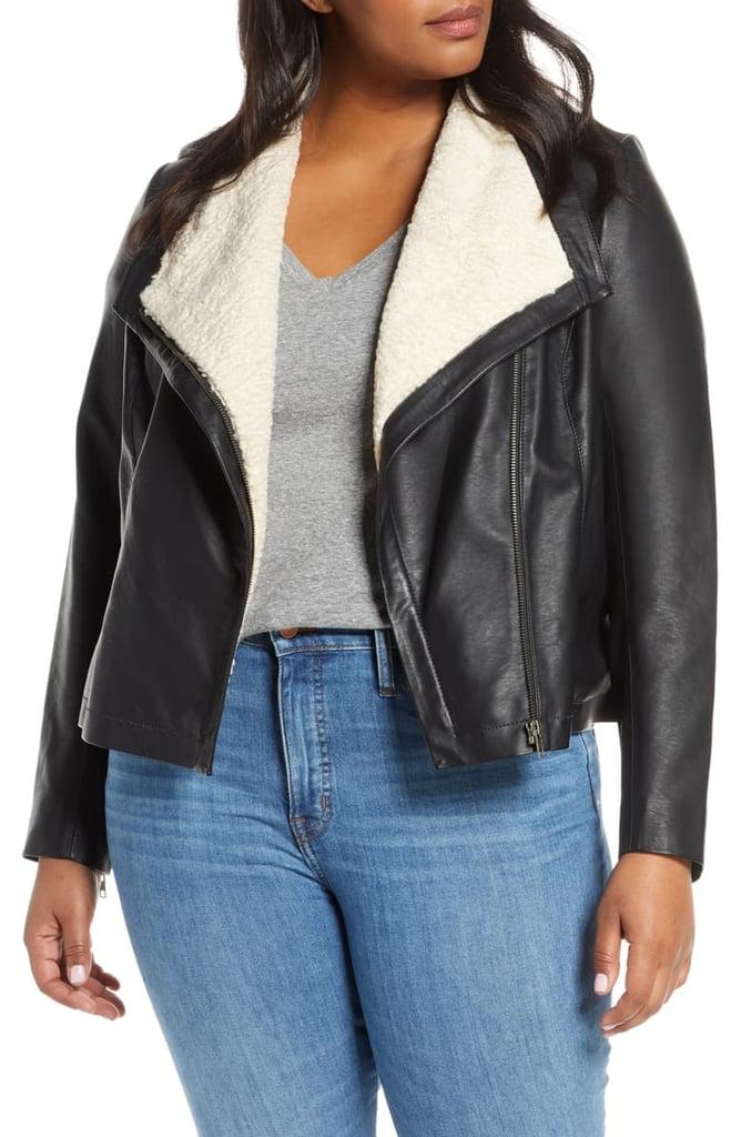 Caslon Faux Leather Moto Jacket