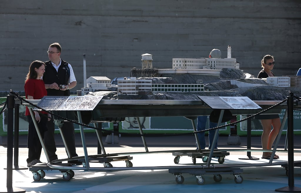 While the actual Alcatraz was closed, tourists checked out a scale model in San Francisco.