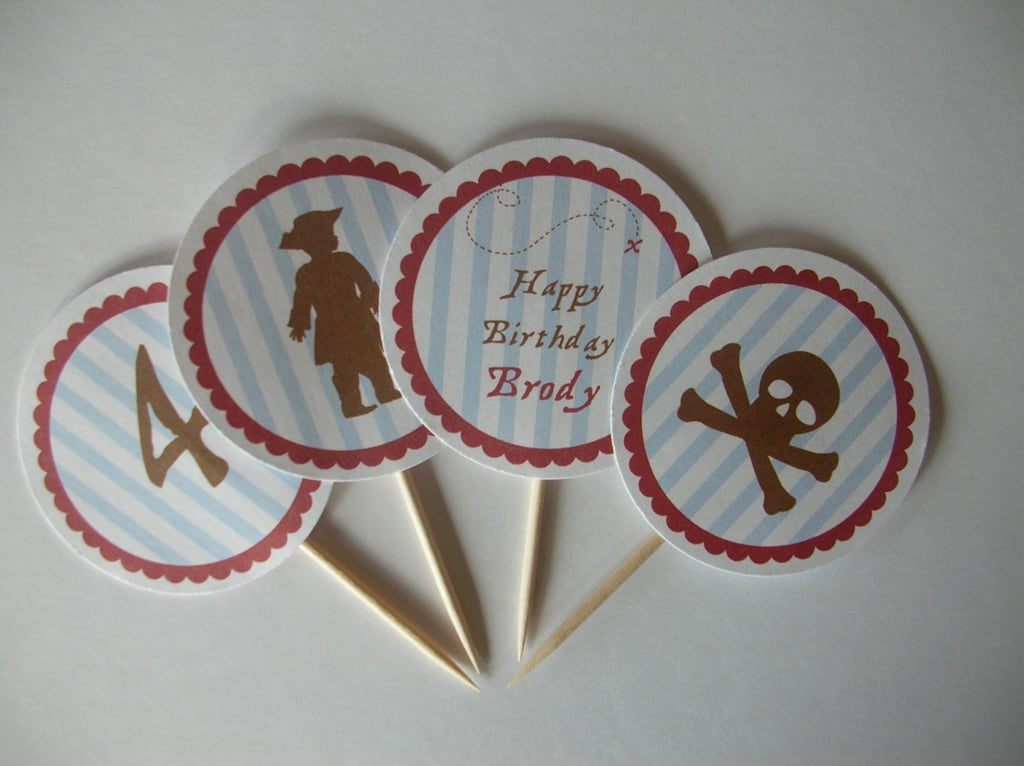 Pirate Cupcake Toppers ($10)