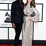 Nicole Trunfio posed with her boyfriend Gary Clark Jr. on the Grammys red carpet.