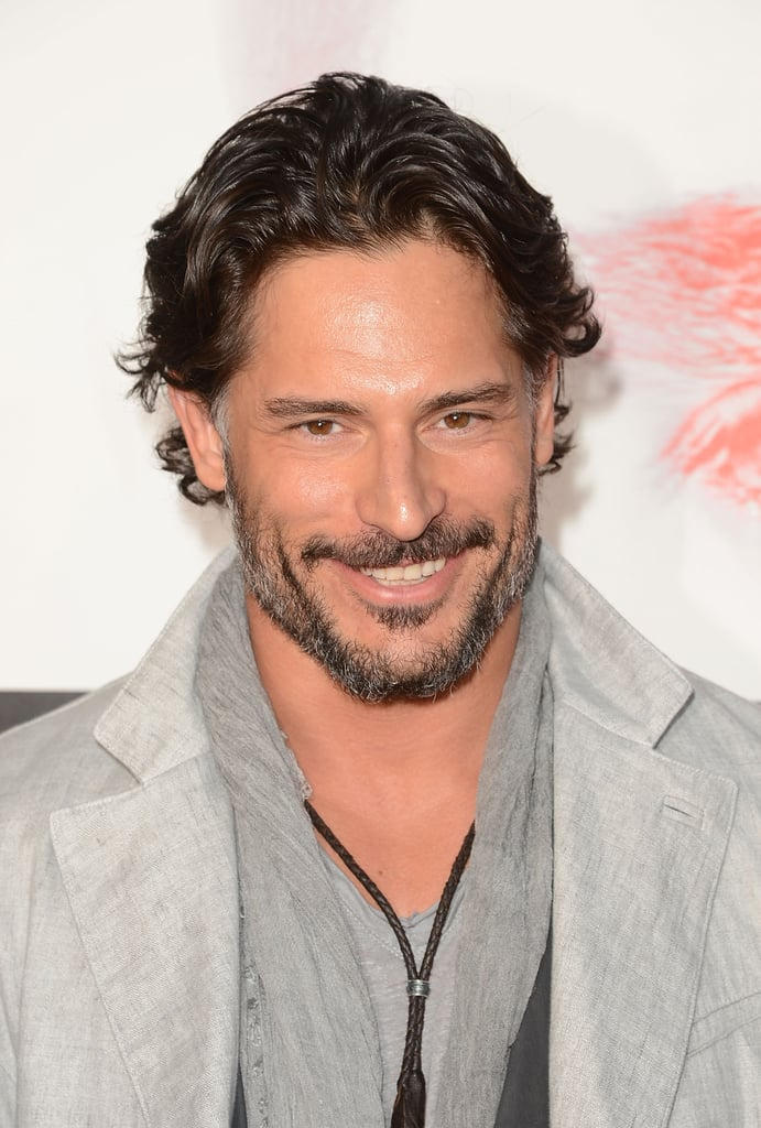Joe Manganiello flashed a smile on the red carpet in Hollywood.