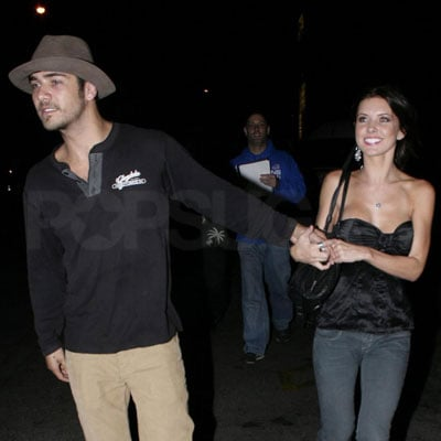 Audrina Patridge Holding Hands with Justin Bobby