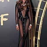 Naomi Campbell's Sheer Naked Dress Stuns at Fashion Week