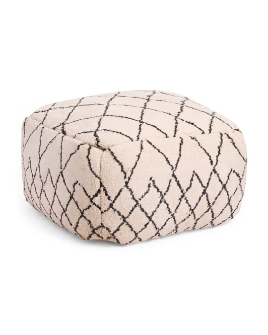 Made in India Shag Pattern Pouf
