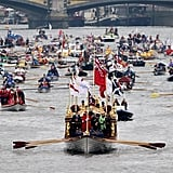 The Thames Diamond Jubilee Pageant filled the river.