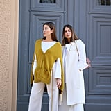 Chic White Separates and One Bold Colour For Contrast