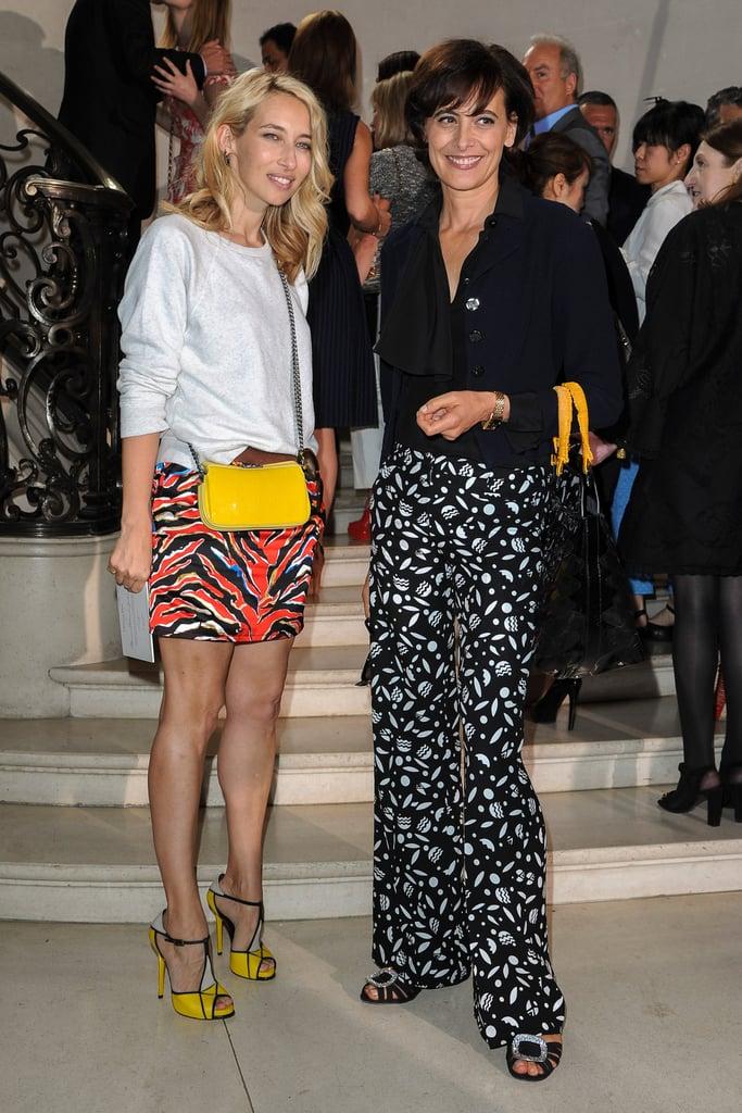 Alexandra Golovanoff and Inès de la Fressange
