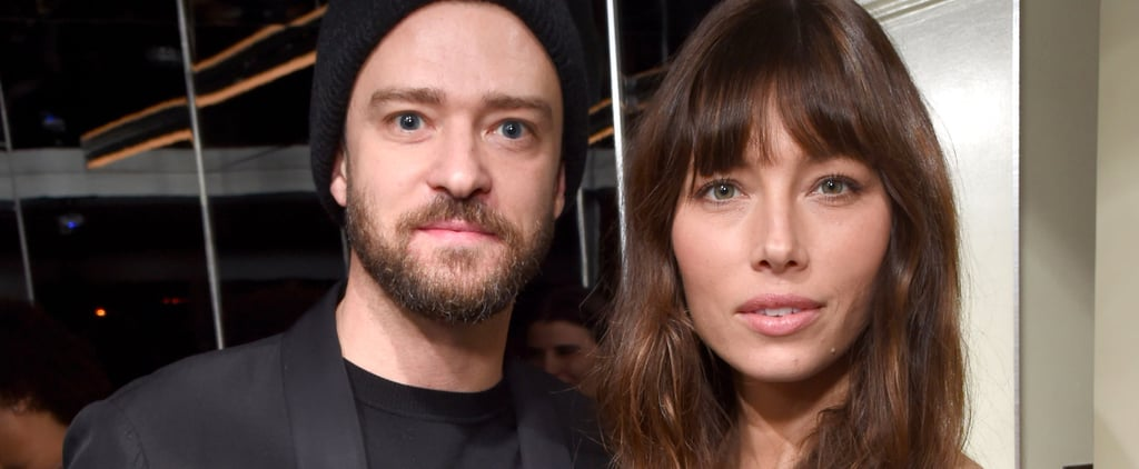 Justin Timberlake and Jessica Biel Strike a Serious Pose at W's Golden Globes Preparty