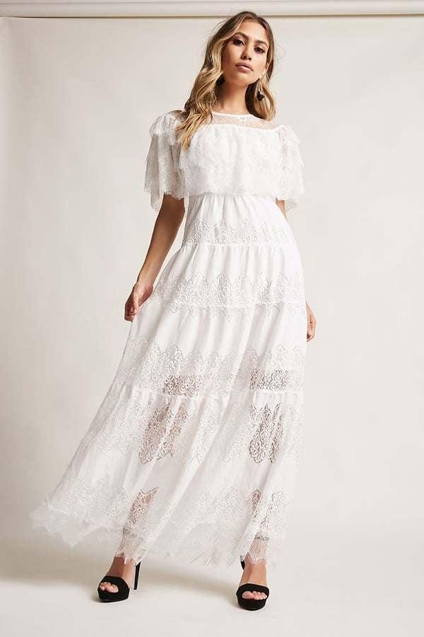 Forever 21 12x12 Tiered Lace Maxi Dress Jennifer