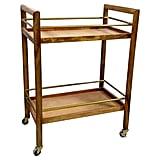 Threshold Wood and Gold Bar Cart ($117, originally $130)