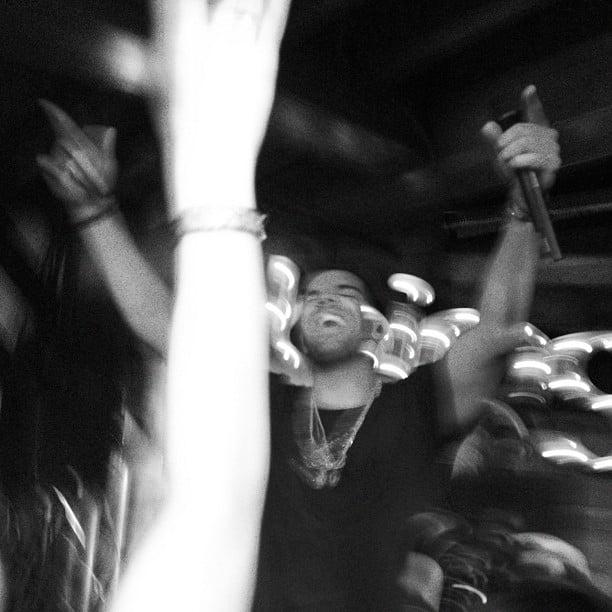 We partied alongside Drake inside the Bing bar at Sundance.