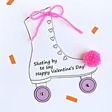 Roller Skate Valentine Cards